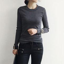 NANING9 - Brushed Fleece Lined T-Shirt