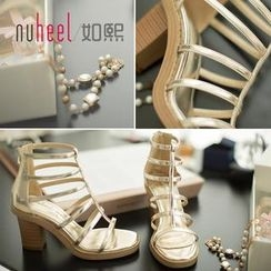 Nuheel - Chunky Heel Strappy Sandals