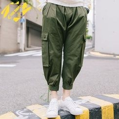 YIDESIMPLE - Velcro-Hem Cargo Pants