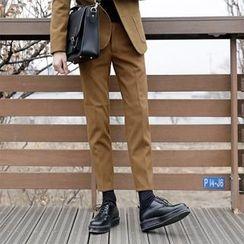 Seoul Homme - Pocket-Side Tapered Dress Pants