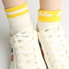 NANA Stockings - Lettering Fold Over Socks