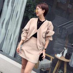 LRZ - 套装: 灯芯绒外套 + 裙子
