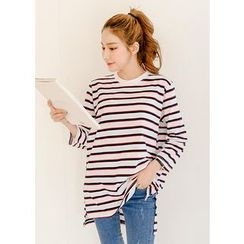 J-ANN - Crew-Neck Striped T-Shirt