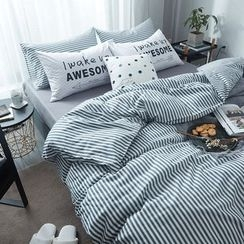 Miss Jane - Bedding Set: Striped Duvet Cover + Bed Sheet + Pillowcase