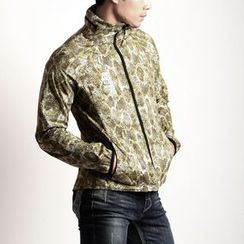Green Banana - Zip-Up Snake Print Jacket