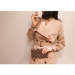 Marlangrouge - Wide-lapel Trench Coat with Sash
