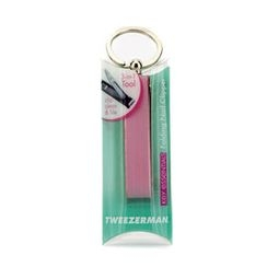 Tweezerman - Key Essentials Folding Nail Clipper - Pink Leather Case