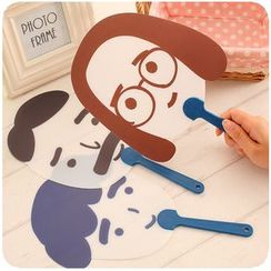 Fancy Mansion - Cartoon Hand Fan