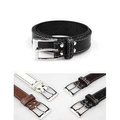 STYLEMAN - Stitched Faux-Leather Belt