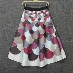 Flore - A-Line Patterned Skirt