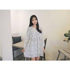 Envy Look - Floral Pattern A-Line Mini Dress