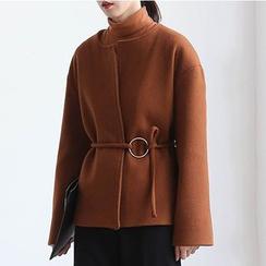 ELLY - Open Front Wool Blend Jacket