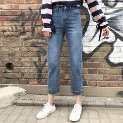 Hazie - 高腰直筒牛仔裤