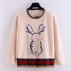 Tulander - 小兔印花套头衫