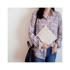 MASoeur - Pocket-Front Plaid Shirt