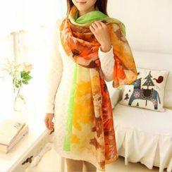 RGLT Scarves - Floral Silk Scarf