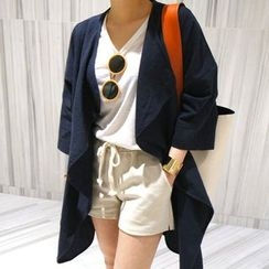 Fashion Street - Plain Trench Coat