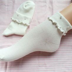 NECTARY - Faux Pearl Socks