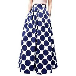 Charlotte - Dotted A-Line Maxi Skirt