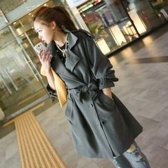 Koo - Flap Front Trench Coat