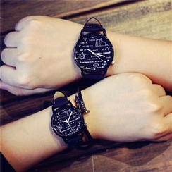 InShop Watches - Print Couple Strap Watch