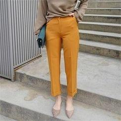 LIPHOP - Cuff-Hem Dress Pants