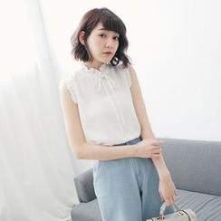 Tokyo Fashion - Sleeveless Frilled Blouse