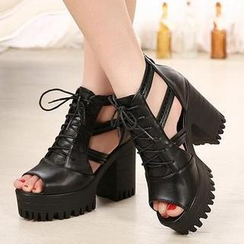 Mancienne - Lace-Up Platform Sandals