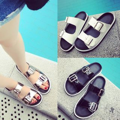 BAYO - Buckled Slide Sandals