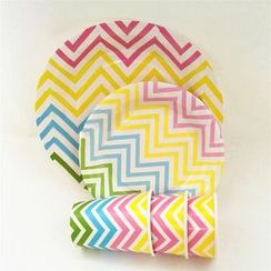 Palmy Parties - Chevron Disposable Plates / Cups