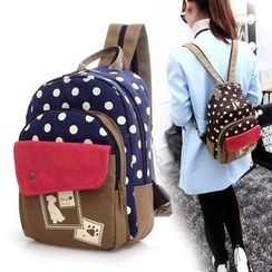 Bagolo - Polka-Dot Canvas Backpack