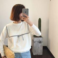 Tulander - 饰缎带长袖T恤