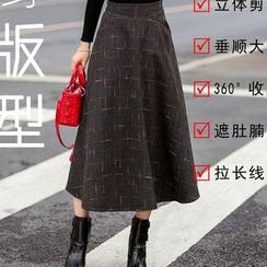 Flore - Plaid Maxi Skirt