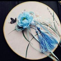 Rivermoon - Flower Hair Clip with Tassel