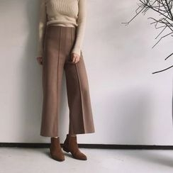 Whitney's Shop - Panel Knit Wide Leg Pants