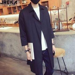 Jacka - 3/4-Sleeve Trench Jacket