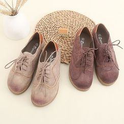 Fairyland - Faux Suede Oxfords