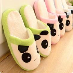 Good Living - Panda Pattern Fleece Slippers