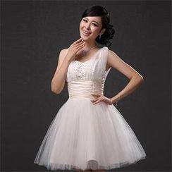Bridal Workshop - Sleeveless Embellished Mini Prom Dress