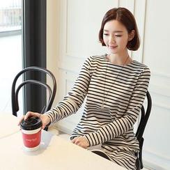 CLICK - Cotton Blend Stripe T-Shirt