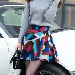 Loverac - Patterned Knit Skirt