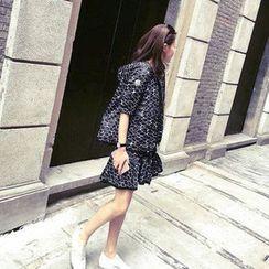 Furuto - 套裝: 印花夾克 + 連衣裙