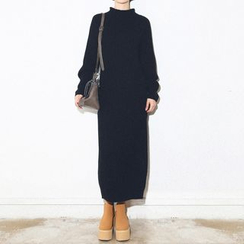ANTEM - 純色長毛衣連衣長裙