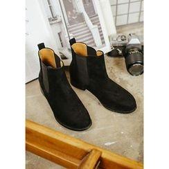 GOROKE - Faux-Suede Chelsea Ankle Boots
