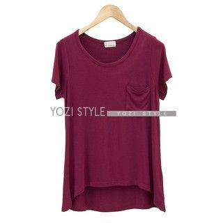 YOZI - Short-Sleeve Dip-Back T-Shirt
