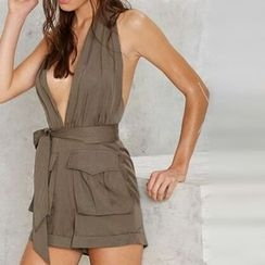 Katie Bloom - Deep V Playsuit