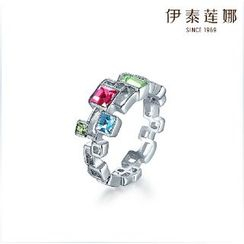 Italina - Swarovski Elements Crystal Geometric Ring