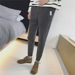 JUN.LEE - Fleece-lined Tapered Pants