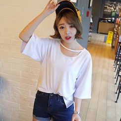 XGZ - Short-Sleeve Cutout Top