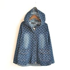 Waypoints - Print Denim Hooded Jacket